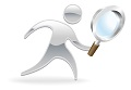 character magnifying glass search