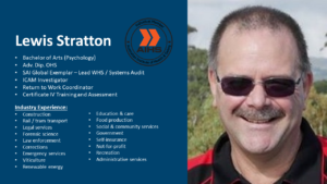 Lewis Stratton - WHS / OHS Consultant