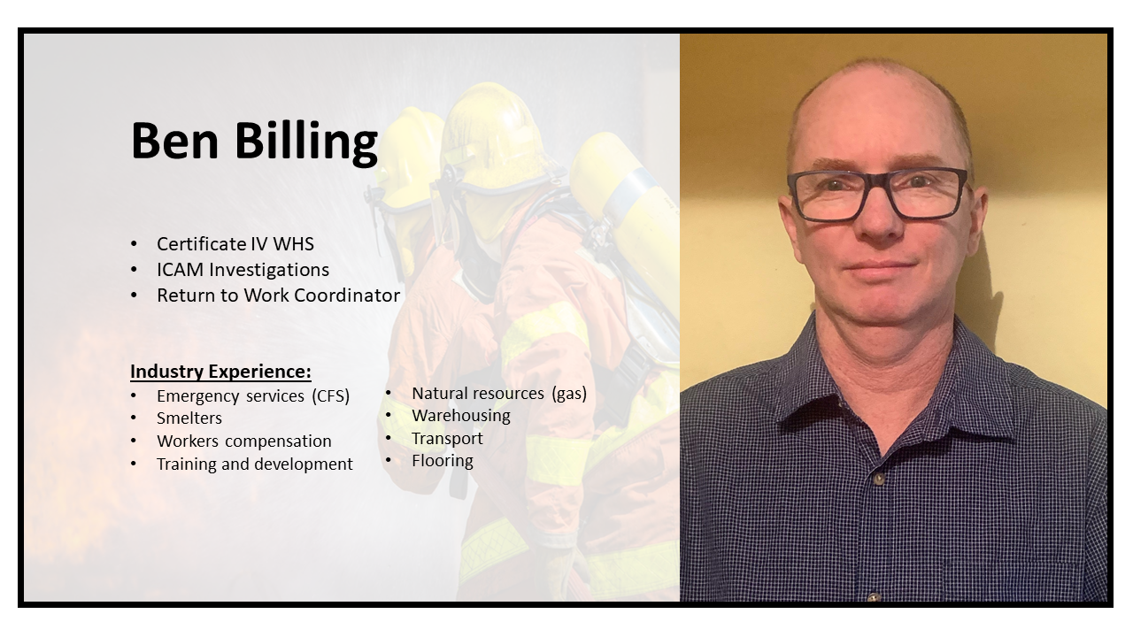 Ben Billing, Safety Officer